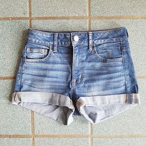 American Eagle High Waist Shortie Denim Shorts 4